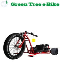 2018 high quality 196CC GAS/OIL power drift electric trike EN14764 electric trike CE approved ebike
