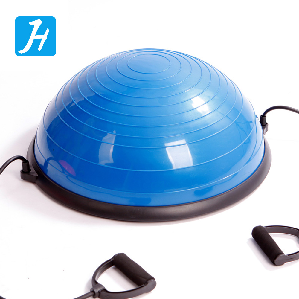 Fitness Exercises Yoga Half Balance Ball Trainer with Resistance Bands