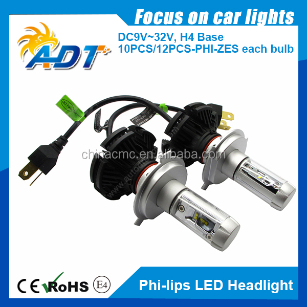 50W 6000LM LED 9003/H4 Headlight Kits Hi/Low Beam Bulbs White 6000K High Power