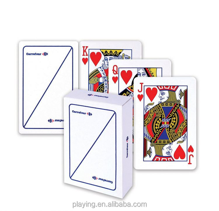 Top grain promotional educational learning paper playing cards