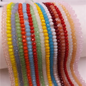 1mm 2mm crystal glass rondelle beads crystal beads for jewelry making
