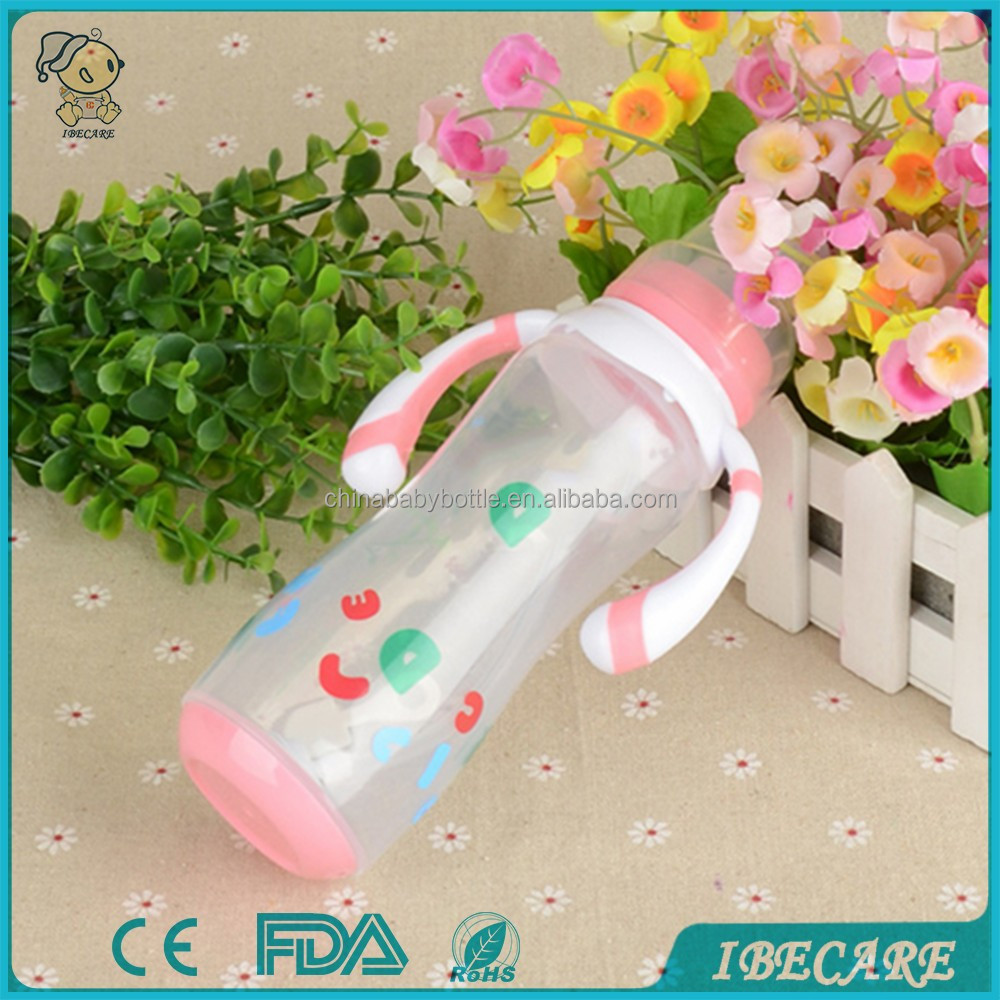 IBECARE New Wide Neck Auto PP Baby Feeding Baby Bottle with holder baby items wholesale