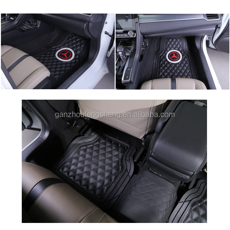 Flat Bamboo Knot Pattern Universal PVC Injection Car Floor Mat Model