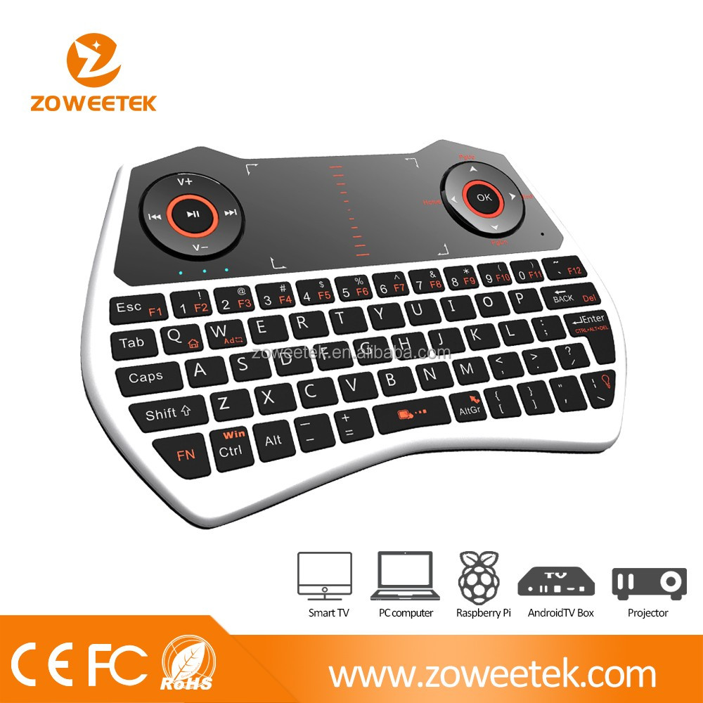 New arrival backlit optional I8 mini keyboard for android/smart tv box