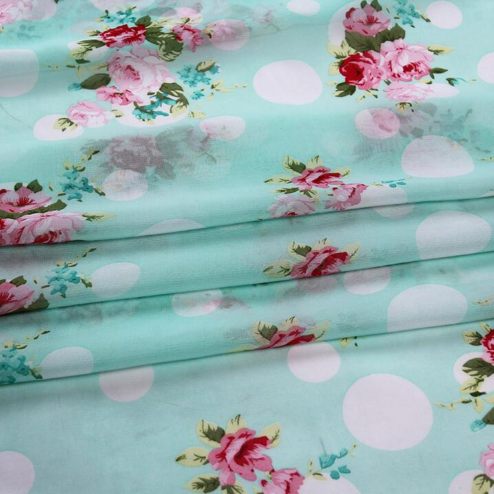 Wholesale 50D 100% polyester printed silk crepe chiffon <strong>fabric</strong> price per meter