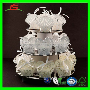 D280 White Seashell Wedding Decorations Laser Cut Paper Box