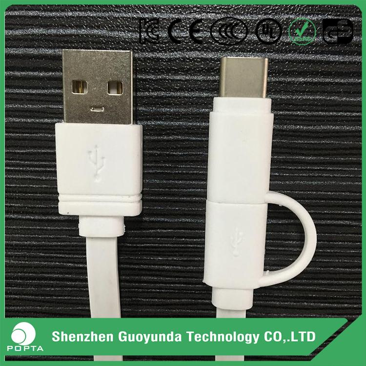 USB 2.0 A to micro B USB type C mobile phone data cable, retractable usb cable, usb charger cable