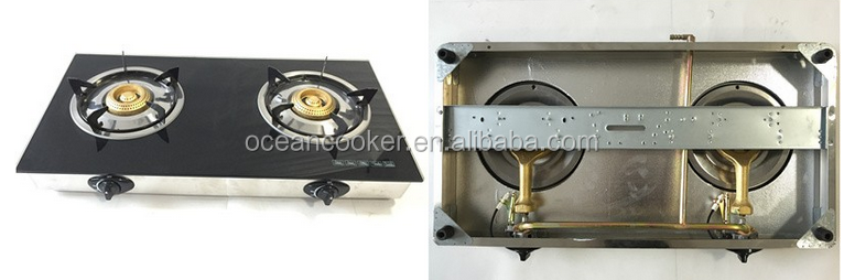 Tempered Glass Top 2 Burner Gas Stove/gas Cooker/ Gas Cooktop