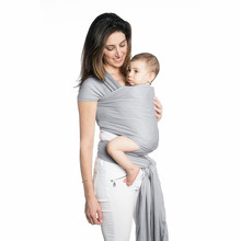 Best Gray Baby Wrap Carrier Of Natural Bamboo Fabric