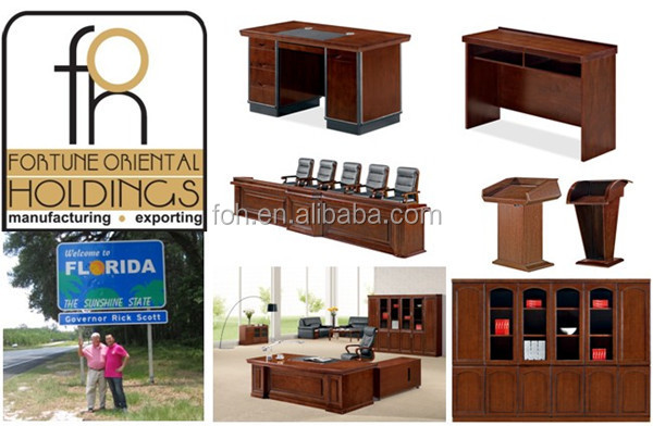 Usa Style High End Bisini Luxury Furniture Executive Desk