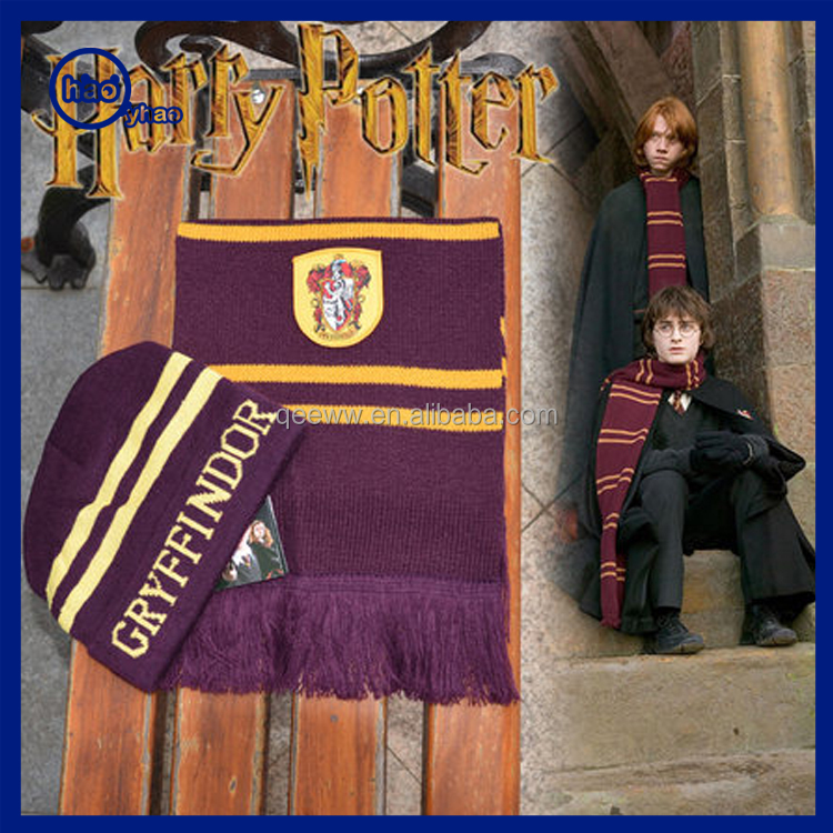 a5e86f4c155aa5 Hot Design Your Own Harry Potter Cheap Warm Winter Hat Funny Custom Scarf  Beanie Gloves Hats Set