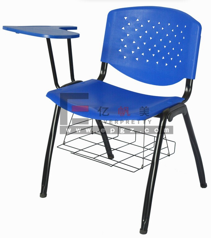 hot sale classroom chair with tablets, school chairs with writing pad, students plastic chairs with study tablet