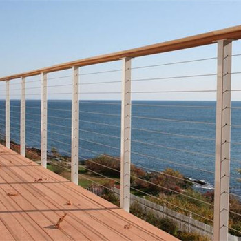 Stainless Steel Railing Cable Side Mounted Square Post