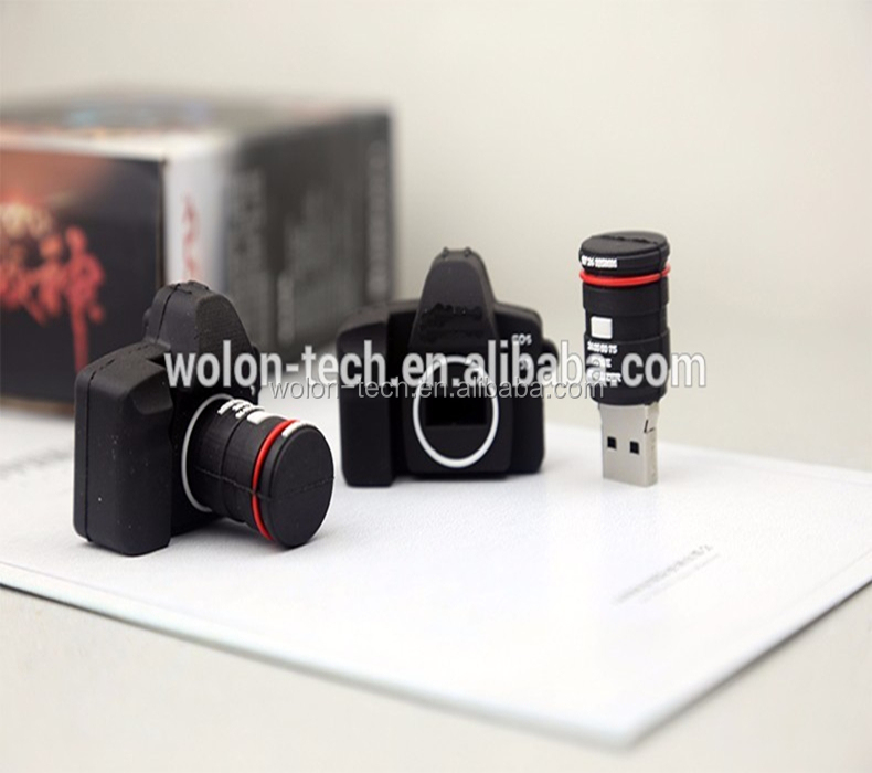 promotional gift cheap Camera shaped usb flash drive, usb stick with free Logo