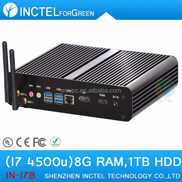 Haswell i7 mini pc with Intel Core i7 4500u 4659u 1.8Ghz atx slim case computer