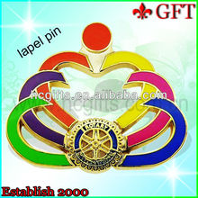 2013 colorful soft enamel iron christmas masonic lapel pins/metal masonic lapel pins for sale