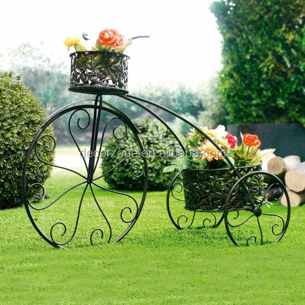 Ferro forjado vasos de flores planta bicicleta suporte - Bicicleta macetero ...