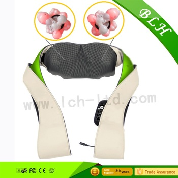 2017 New Deluxe shiatsu 3D kneading relax shoulder electric vibrating neck massager with heat for health care CHINA FACTORY