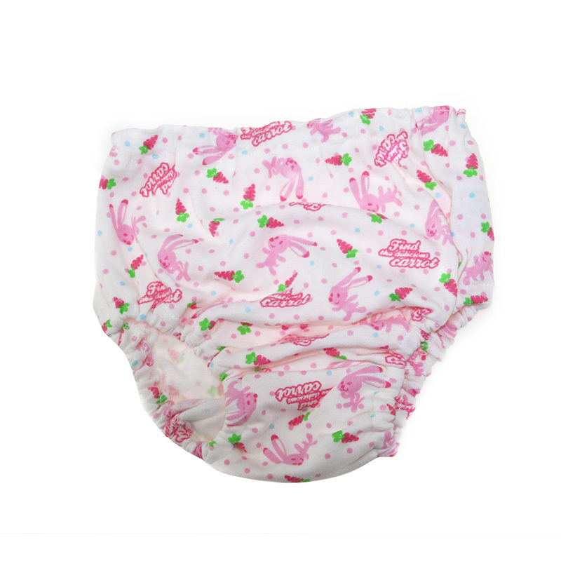 New arrival wholesale 3Pcs/lot Baby Girls' Briefs Fashion Cute Underwear rabbit and radish Cartoon pattern Soft Cotton calcinhas