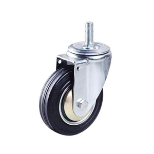 Industrial Threaded Stem Rubber Caster Wheels