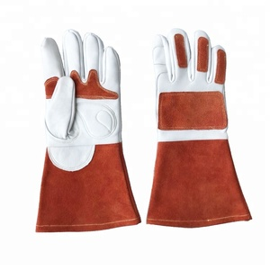 Online Selling cowhide split argon tig welding leather mechanical working gloves