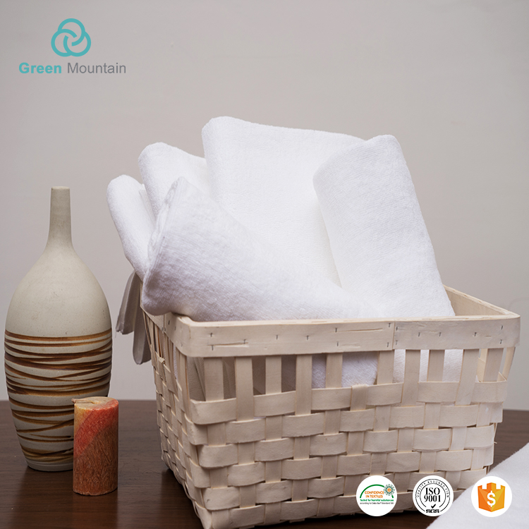 Bulk Wholesale white 100% cotton bath towel and hand towel
