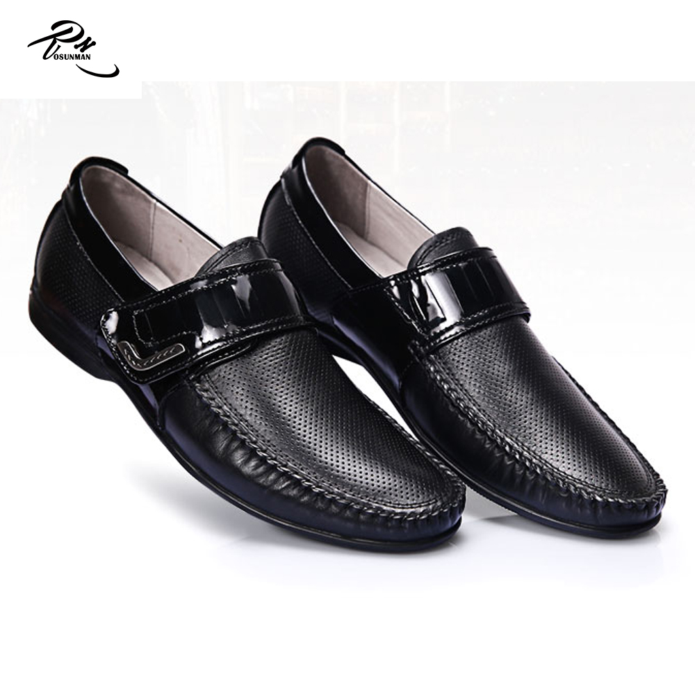 design Buckle men new 2016 leather cow black strap for casual shoes PqO7v