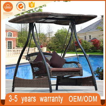 Royal Two Seat Rattan Wicker Patio Balcony Outdoor Swing Chair Hanging Swing  Chair Price