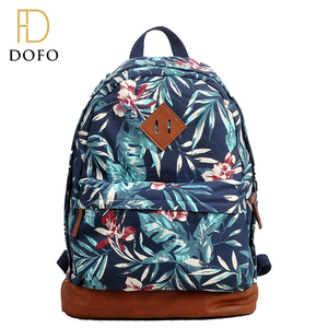 New fashion simple custom design canvas school backpack