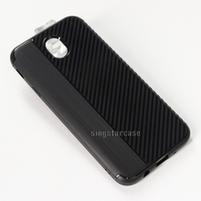 New best selling carbon fiber sốc chống brushed texture mềm tpu phone case cho samsung galaxy j7 max trường hợp armor