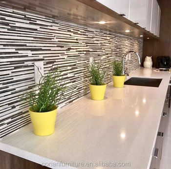 Made To Size Acrylic Solid Surface Kitchen Countertop