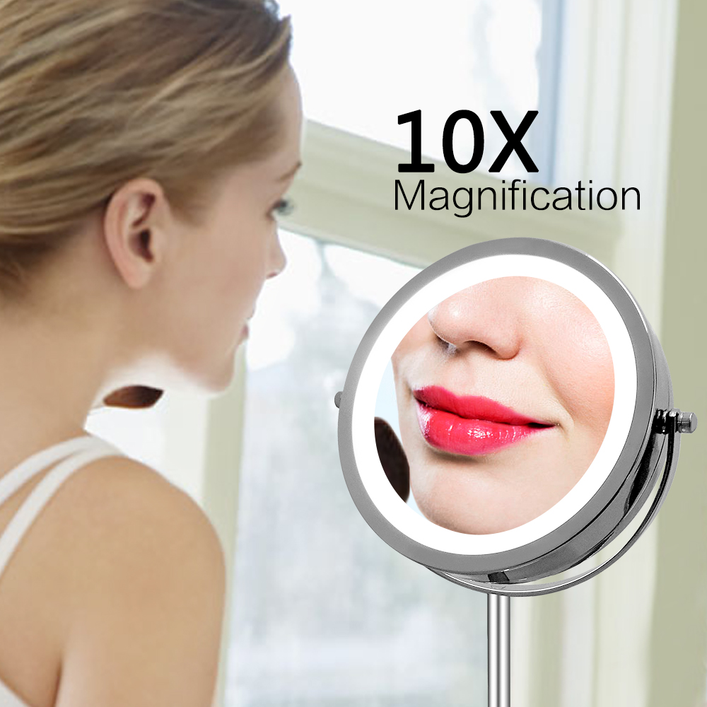 New fashion LED makeup mirror 7inch size 10x magnifying