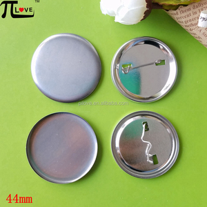 Bulk wholesale 44mm round blank pin button badge materials
