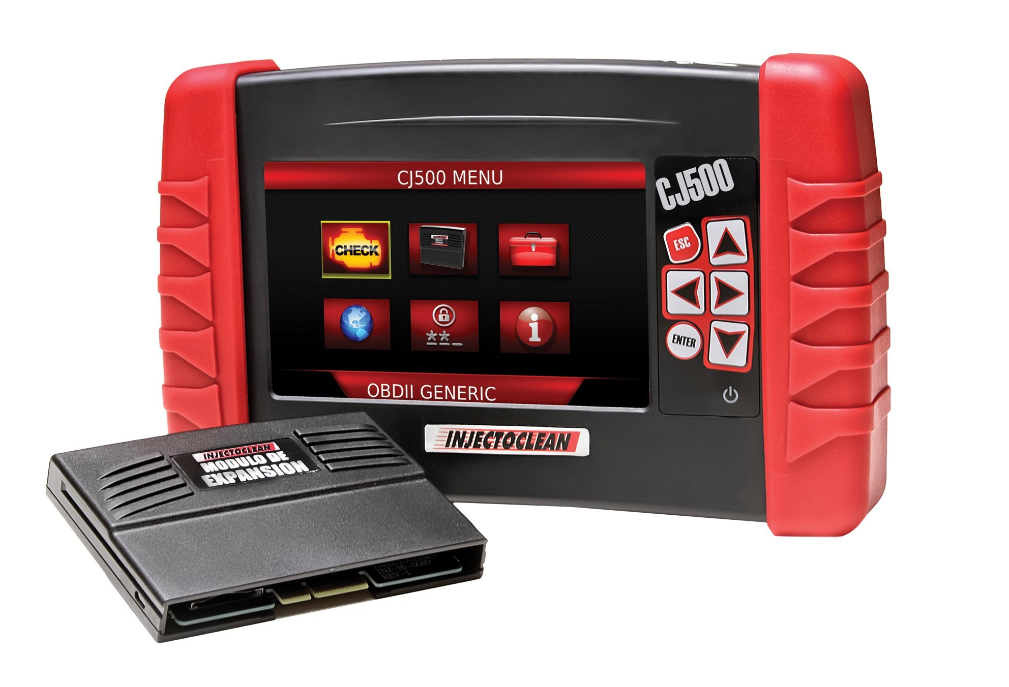 CJ500 Full Kit OBDII/CAN Automotive Diagnostic Scantool, with 2-Channel Labscope, Battery tester, Injector tester, & Extensive coverage