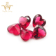 High quality synthetic red large heart shape glass gemstone