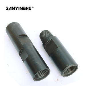 Jointed rod high quality drilling pipe connector D57 D65 D80 D121 D95 D100 steel connections for bull rod, adapter sleeve