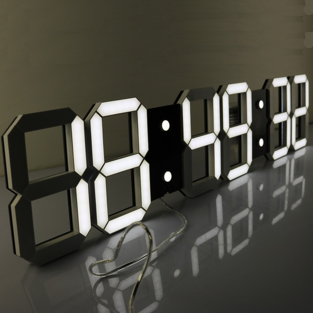 Super Large Digital LED Alarm Clock Wall Clock Remote ...