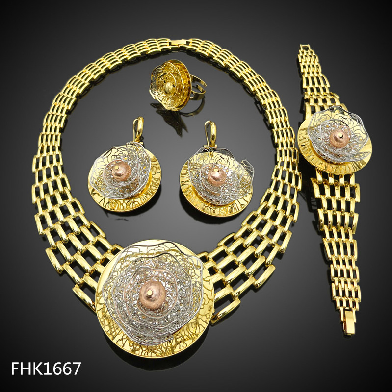 wholesale african jewelry sets 24k gold plated,african beads jewelry set