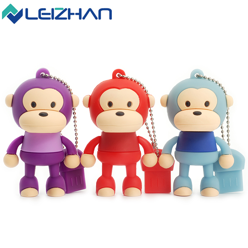 Computer & Office Usb Flash Drives Nice New Style Usb Flash Drive Pendrive 64gb 32gb 16gb 8gb 4gb Cute Monkey Cartoon Animal Pen Drive Usb Stick Lovely Gift Usb 2.0 Hot