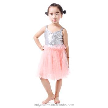 Argent Et Rose Glitter Tulle Robe Shabby Chic Bébé Et Enfant En Bas ...