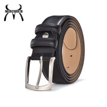Zinc alloy mens brown designer thickness 4mm belts leather