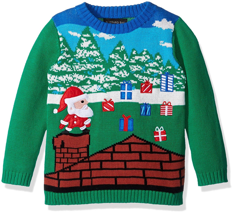 989bf63abf8f66 Get Quotations · Blizzard Bay Boys  Santa Video Game Xmas Sweater