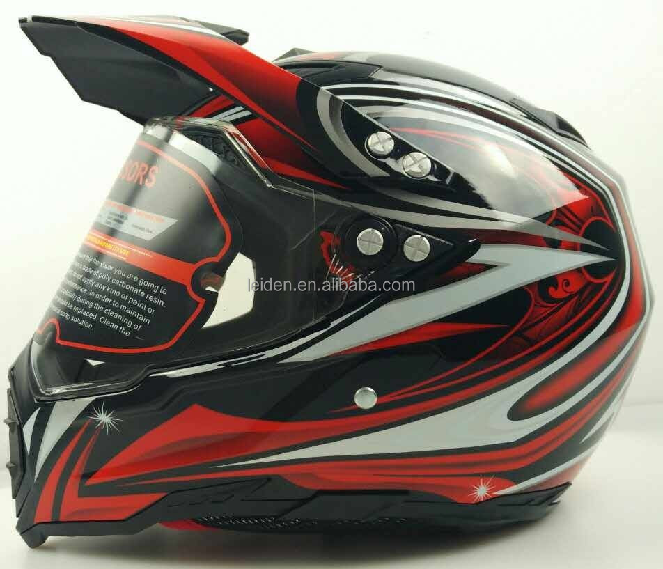 MOTORCYCLE HELMET OFF ROAD with visor dirtbike helmets hjc cross helmet style