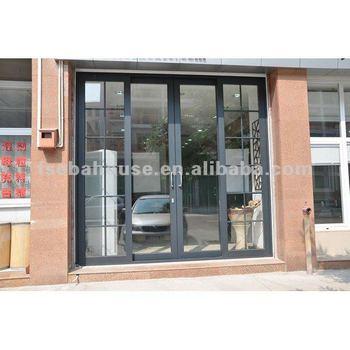 German Style Aluminum Sliding Door Grilles Ce Aluminum Frame Glass