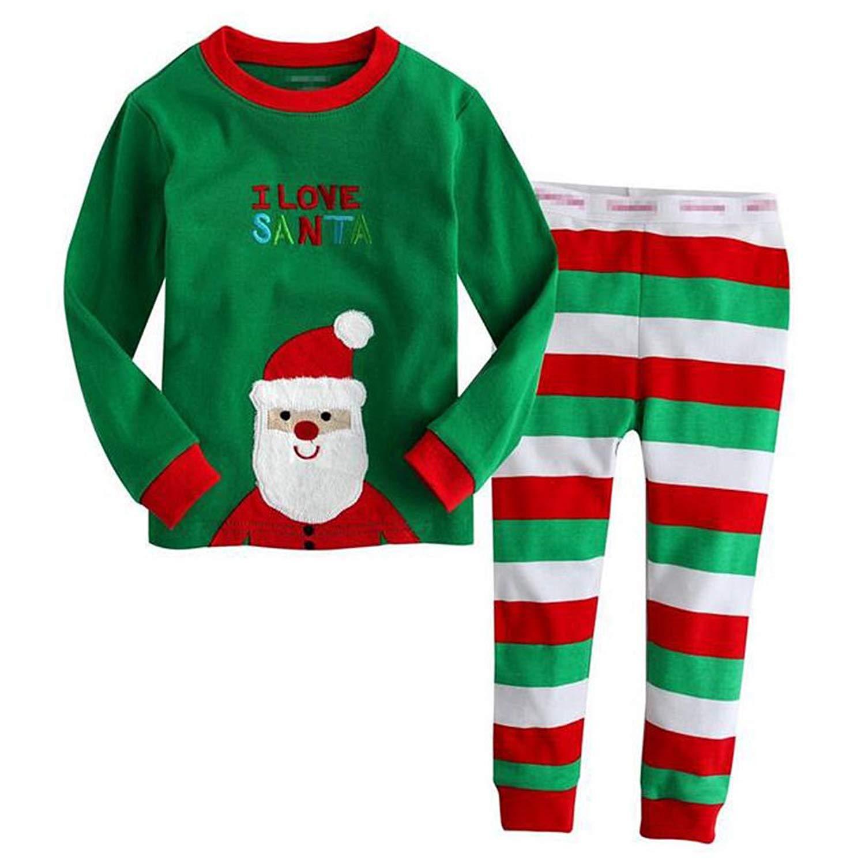b3ed7c3fa1 Get Quotations · Meijunter Christmas Cotton Sleepwears Unisex Boys Girls  Family Xmas Pajamas Sets