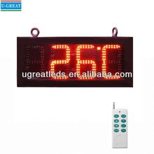New technology product in china ultra brightness outdoor IP65 led time and temperature displays