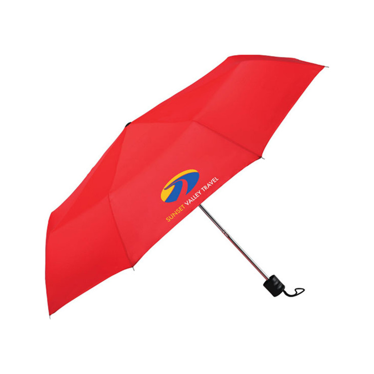Corporate anniversary gifts customised red 2 fold umbrella