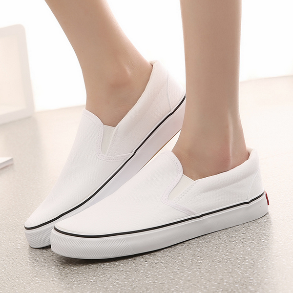 M1144 Comfortable shoes lovers shoe fashion slip on men women hand printed canvas shoes