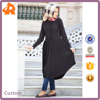 8ed6fe0a8bb Wholesale New Abaya Designs Dubai Abaya Maxi Latest Pleated Muslim Dress
