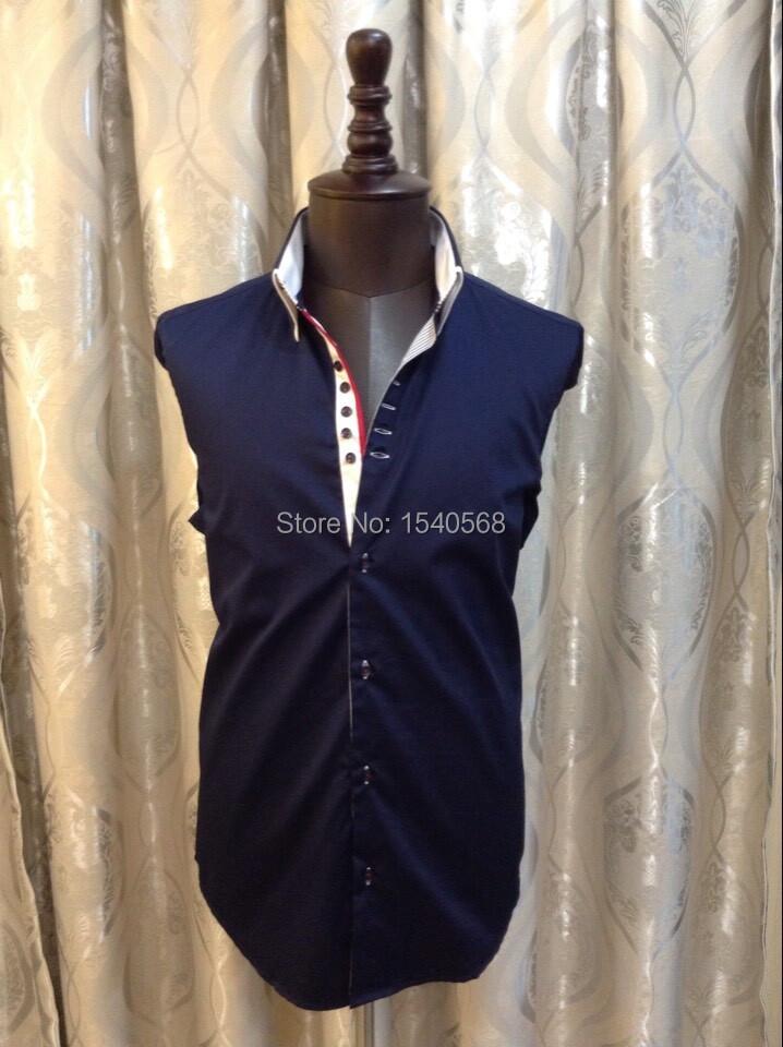 Италия марка рубашки 7 camicie мужчины в рубашка длинный рукав приталенный Fit мужчины рубашка одежда большие размер большой